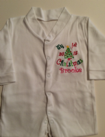 First Christmas Baby Grow